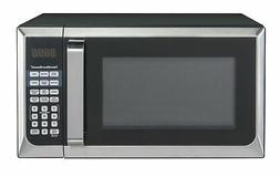 Black Stainless Steel Microwave Oven 0.9 Cu. Ft. 900 W Home