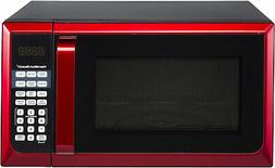 New Hamilton Beach 900W 0.9 Cu. Ft. Counter-Top Red Microwav