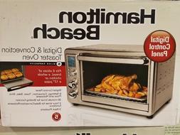 New Hamilton Beach Digital Convection Countertop Toaster Ove