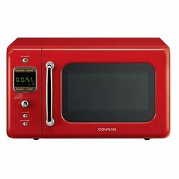 New Daewoo Retro Microwave Oven 0.7 Cu Ft, Red color, KOR-7L