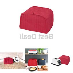 Red Quilted Home Kitchen Dining Countertop Appliance 2 Slice
