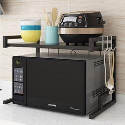 Retractable <font><b>microwave</b></font> oven kitchen shelf