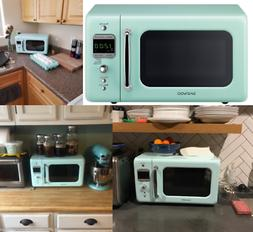 Retro Counter-top Microwave Oven 0.7 Cu. Kitchen Vintage Sty