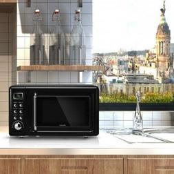 Retro Countertop Microwave Dorm College Glass Turntable Oven