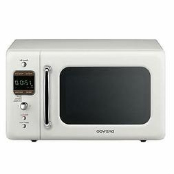 Daewoo Retro Countertop Microwave Oven 0.7 Cu. Ft., 700W Cre