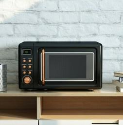 Retro Microwave Small Glass Turntable Countertop Dorm Colleg