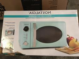 Nostalgia RMO7AQ Retro 0.7 Cubic Foot Microwave Oven - Aqua