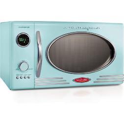 Nostalgia RMO7AQ Retro 0.7 Cubic Foot Microwave Oven – Aqu