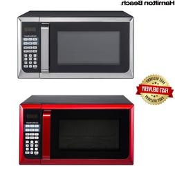 Stainless Steel Microwave For Kitchen Office Sleek Large Cou